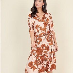 Dresses & Skirts - Multi Floral Print Ruffled Tiered Hem